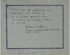 Wilham A. Barr -  Verginia Commonwealth University
