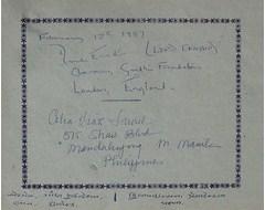 Lord Ennans, Chairman of Gandhi Foundation, London, England .........