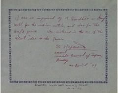 S. Hajward - Consolate General of Japan Bombay