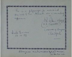H. A. Barari - Governor of Haryana Chandigarh, Anita Barani