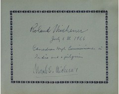 Roland Michener (Canadian High Commissioner in India and a pilgrim), Norah E Michner