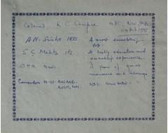 Colonel R. C. Chopra, A. N. Sinha - IRTS, S. C. Mehta - IPS, C. P. R. Nair, Commander N. N. Anand - AVSH
