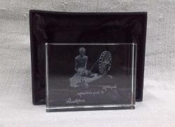 gandhi photo block with charkha(350)